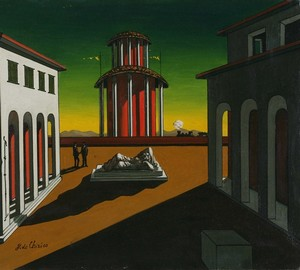 Italian squares in the paintings of Giorgio de Chirico