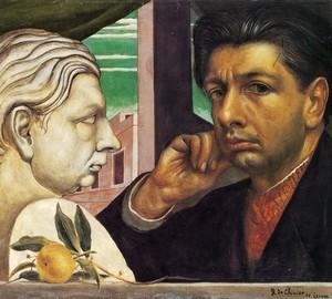 Self-portraits of Giorgio de Chirico – 1922.1945, Self-portrait in the Garden