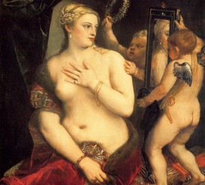 Venus in front of the mirror, Titian Vecellio