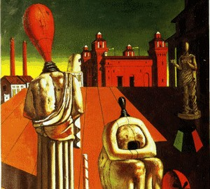 Destruction of muses or Alarmed virgins or Anxious muses, de Chirico, 1925
