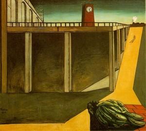 Painting Station Montparnasse, Giorgio de Chirico, 1914
