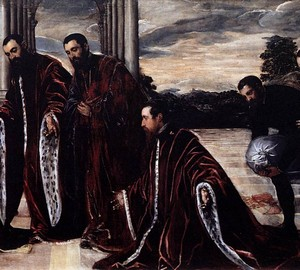 Madonna with Three Treasurers, Jacopo Tintoretto