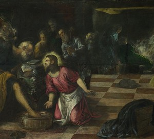 """Christ washes the feet of his disciples"", Tintoretto – description of the painting"