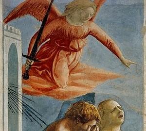 """""""Expulsion from Paradise"""", Masaccio, fresco"""