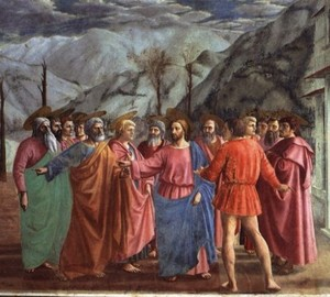 """The Miracle with the Statier"", Masaccio – description"