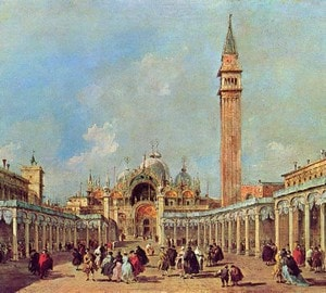 """Piazza San Marco"", Francesco Guardi – description of the painting"