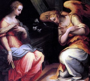The Annunciation, Giorgio Vasari – analysis of the picture