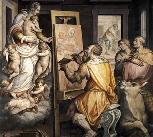 St. Luke paints a portrait of the Virgin, Giorgio Vasari, 1565